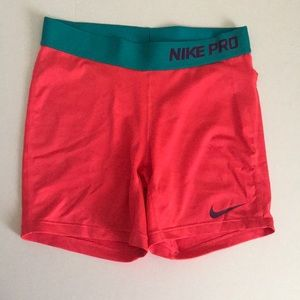 Nike pro shorts. Size large. Only worn once